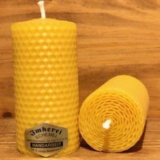 Gerollte Bienenwachskerze 10cm 5cm