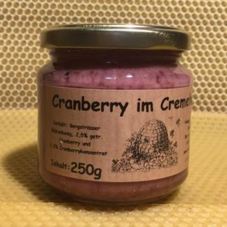 Cranberry im Cremehonig