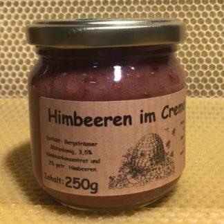Himbeeren im Cremehonig